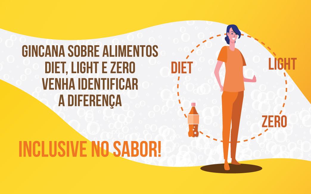 Gincana sobre alimentos diet, light e zero